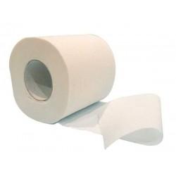 Toilettenpapierrolle aus reiner weißer Watte