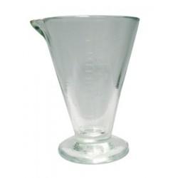 Glas auf fuß mit skala 250 ml