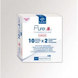 Reine, sterile Kompresse aus Vliesstoff (pro Packung mit je 2 Stk).