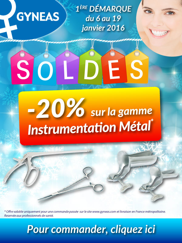 soldes promotions gyneas materiel gynecologie